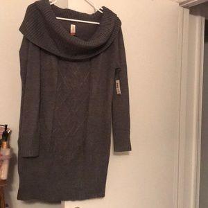 Dark grey sweater dress